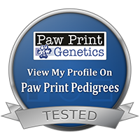 Australian Shepherd Genetic PawPrint button to dog genetic profile